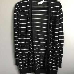Striped, light black and white sweater